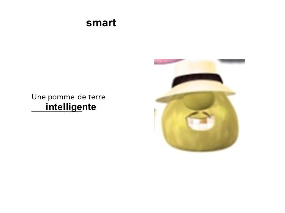 Une pomme de terre ____________ intelligente smart