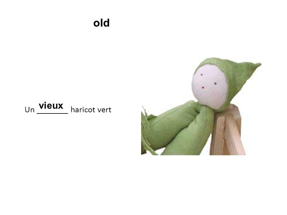 Un ________ haricot vert vieux old
