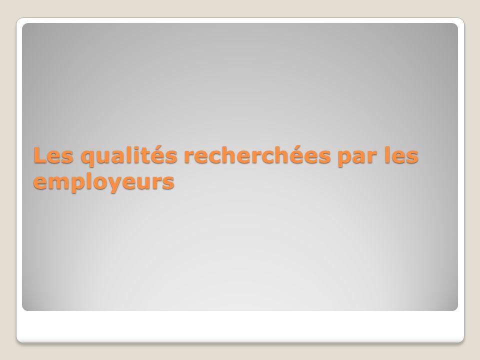Les qualités recherchées par les employeurs