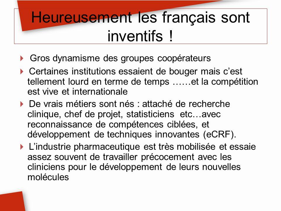 Heureusement les français sont inventifs ! Gros dynamisme des groupes coopérateurs Certaines institutions essaient de bouger mais cest tellement lourd