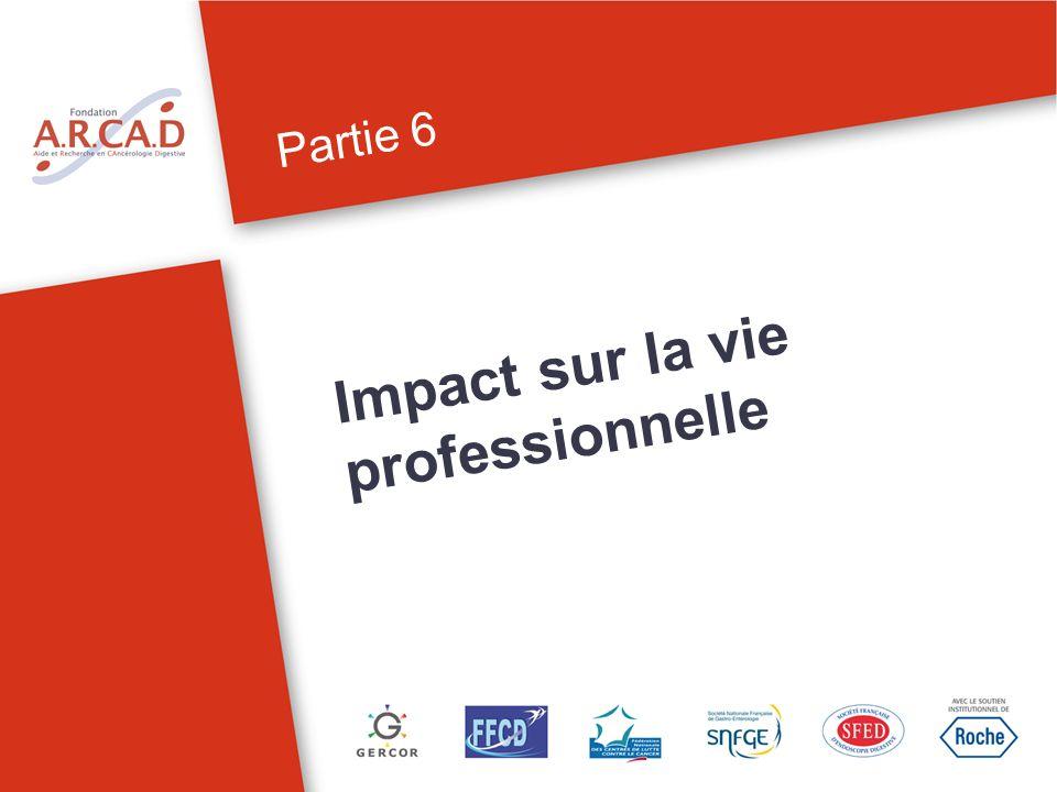 Partie 6 Impact sur la vie professionnelle