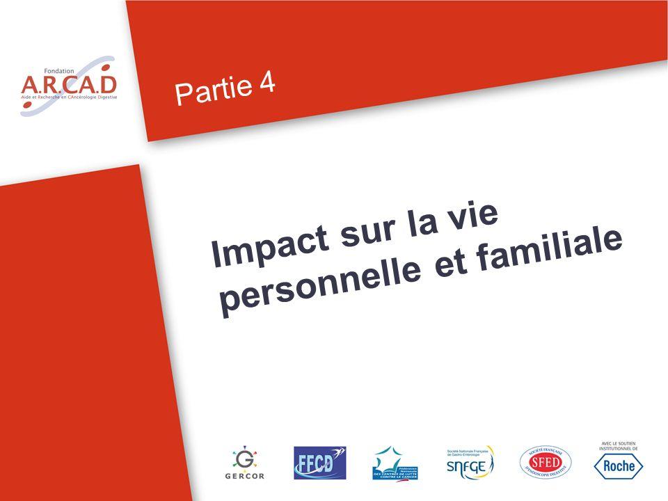 Partie 4 Impact sur la vie personnelle et familiale
