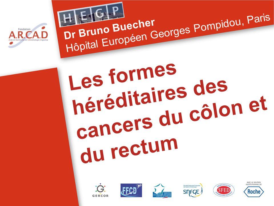 Les formes héréditaires des cancers du côlon et du rectum Dr Bruno Buecher Hôpital Européen Georges Pompidou, Paris