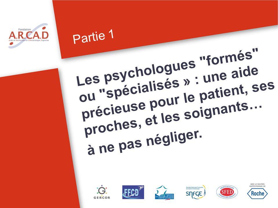 Partie 1 Les psychologues « formés » ou « spécialisés »: une aide précieuse pour le patient 4Laide psychologique pour les patients atteints de cancer
