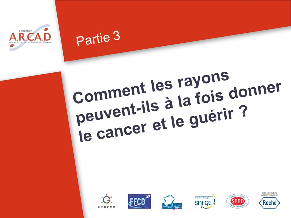 Partie 3 Comment les rayons peuvent-ils à la fois donner le cancer et le guérir ?