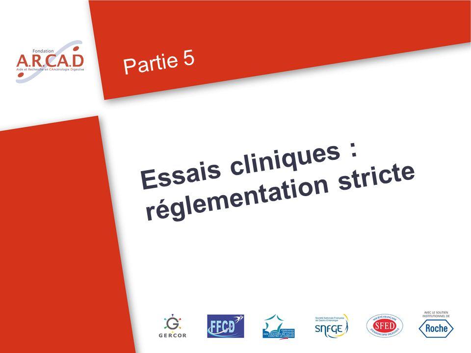 Essais cliniques : réglementation stricte Partie 5