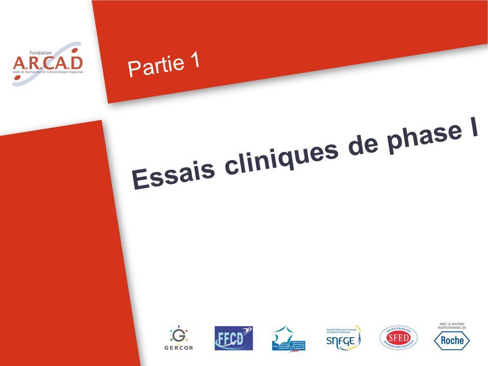 Essais cliniques de phase I Partie 1