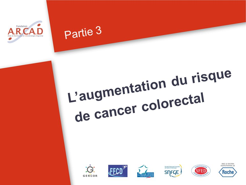 Partie 3 Laugmentation du risque de cancer colorectal