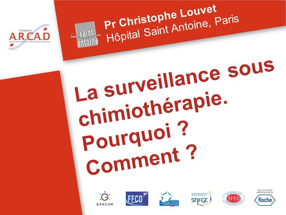 La surveillance sous chimiothérapie. Pourquoi ? Comment ? Pr Christophe Louvet Hôpital Saint Antoine, Paris