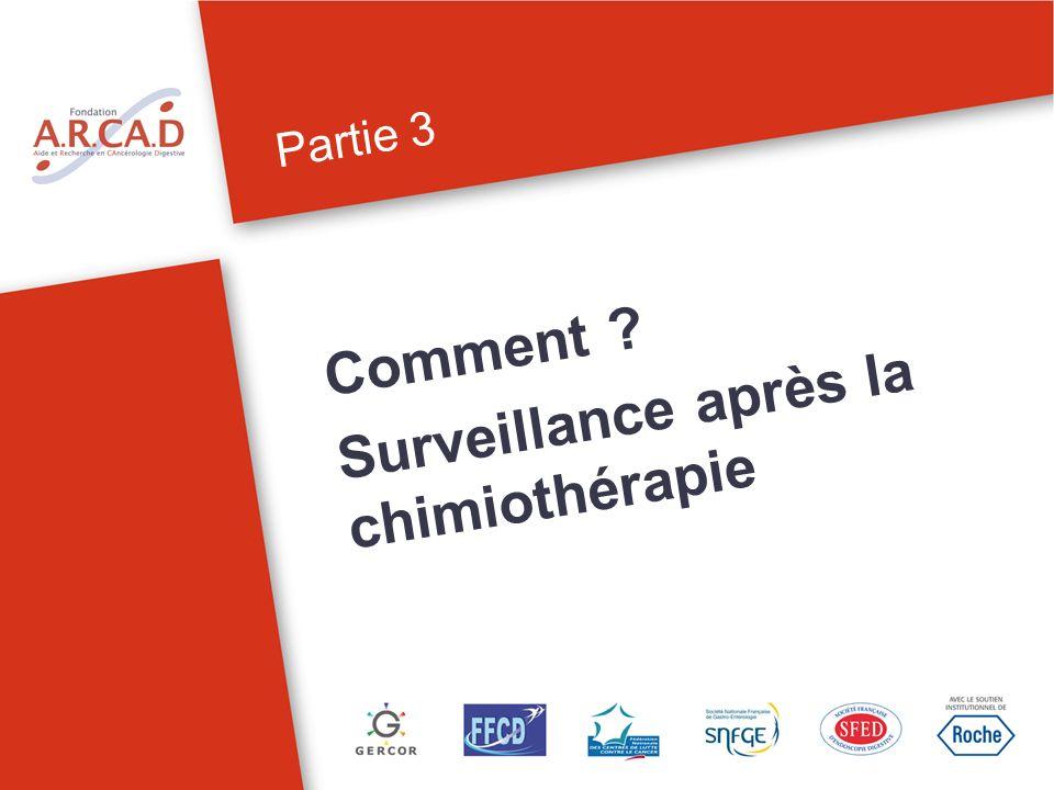 Partie 3 Comment ? Surveillance après la chimiothérapie