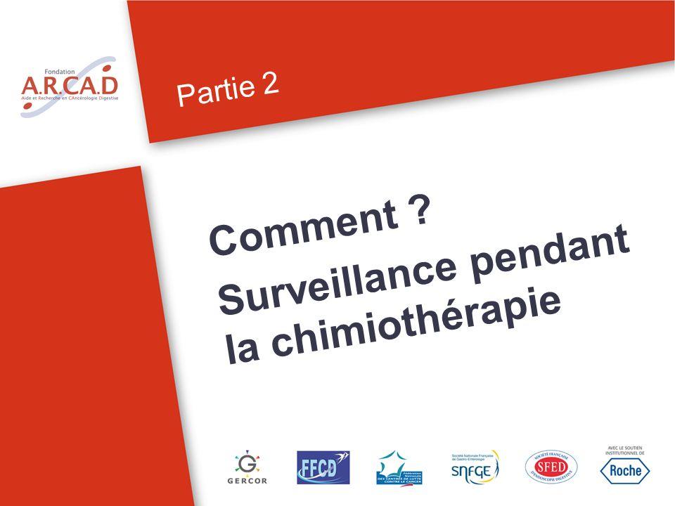 Partie 2 Comment .Surveillance pendant la chimiothérapie 7Surveillance sous chimiothérapie.