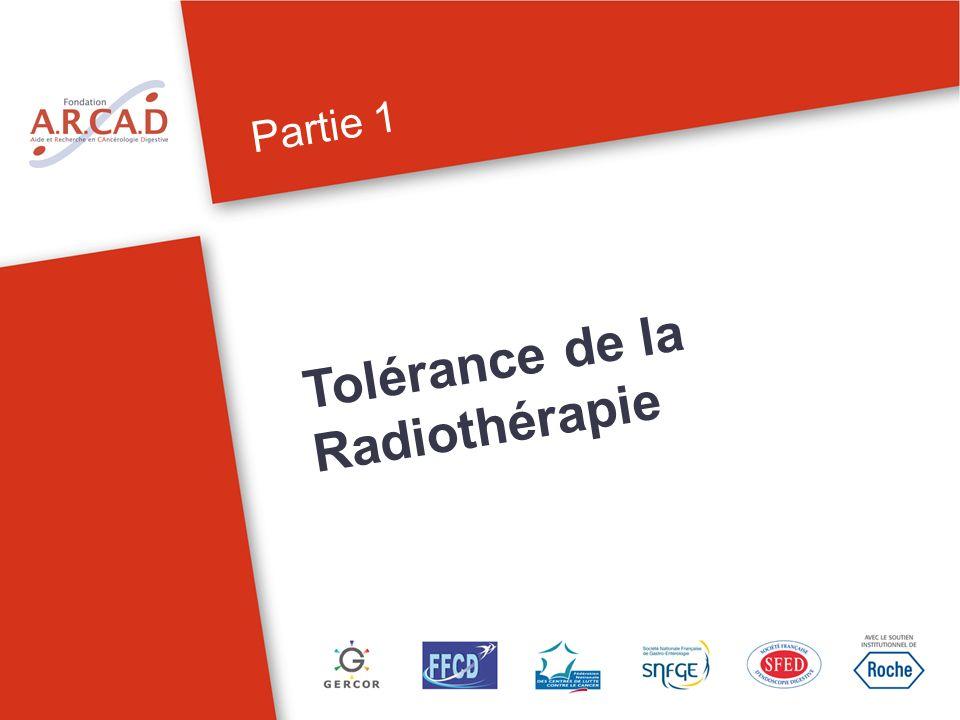 Partie 1 Tolérance de la Radiothérapie