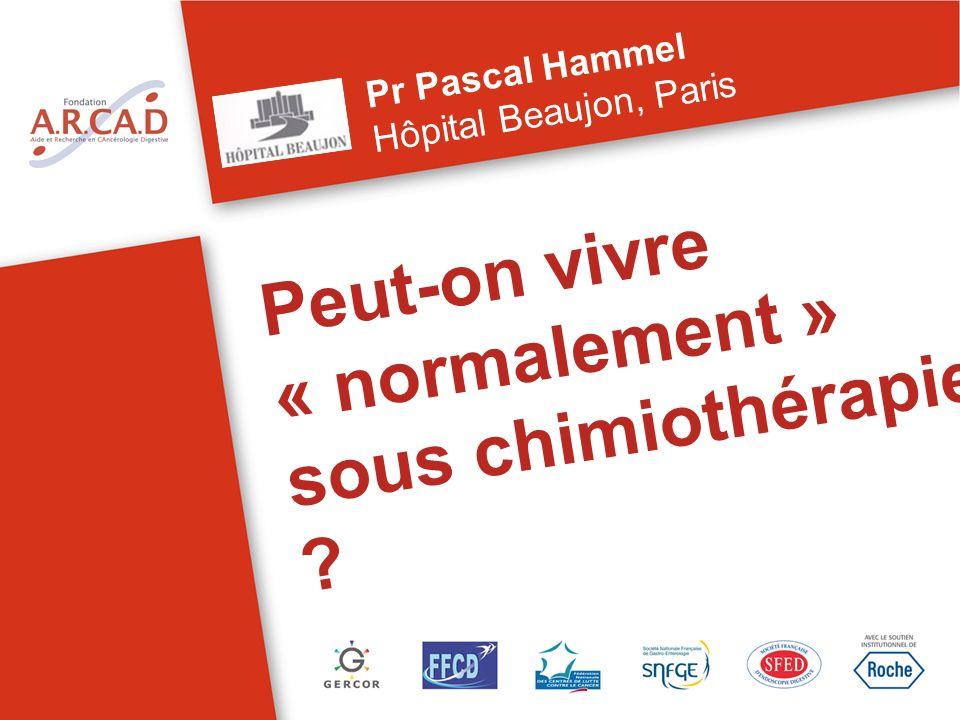 Peut-on vivre « normalement » sous chimiothérapie ? Pr Pascal Hammel Hôpital Beaujon, Paris