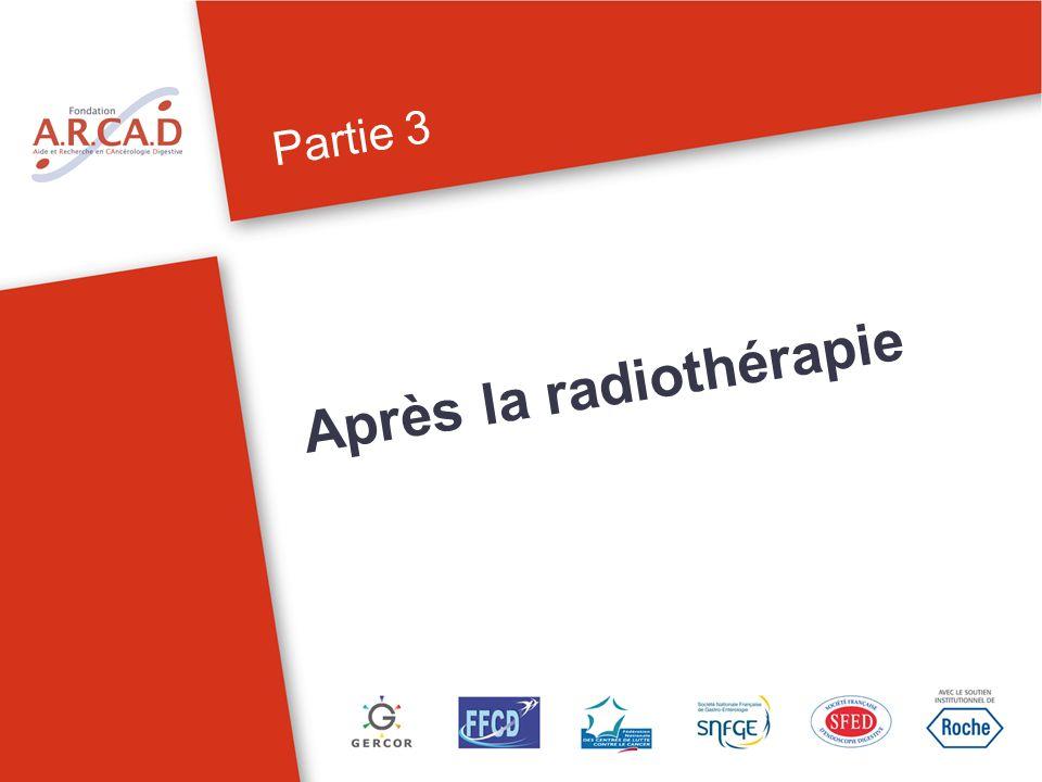 Partie 3 Après la radiothérapie Il existe un effet retardé des rayons pendant environ 15 jours.