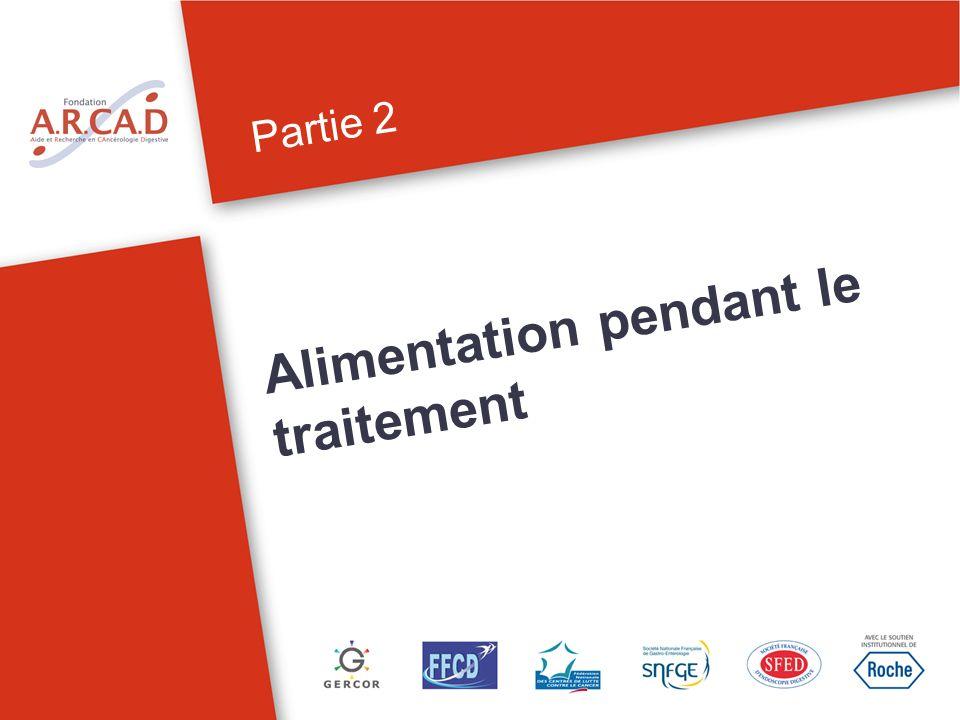 Partie 2 Alimentation pendant le traitement