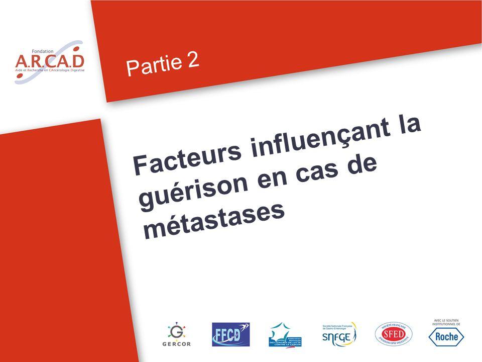 Partie 2 Facteurs influençant la guérison de cas de métastases 8Peut-on guérir de métastases dun cancer colorectal.