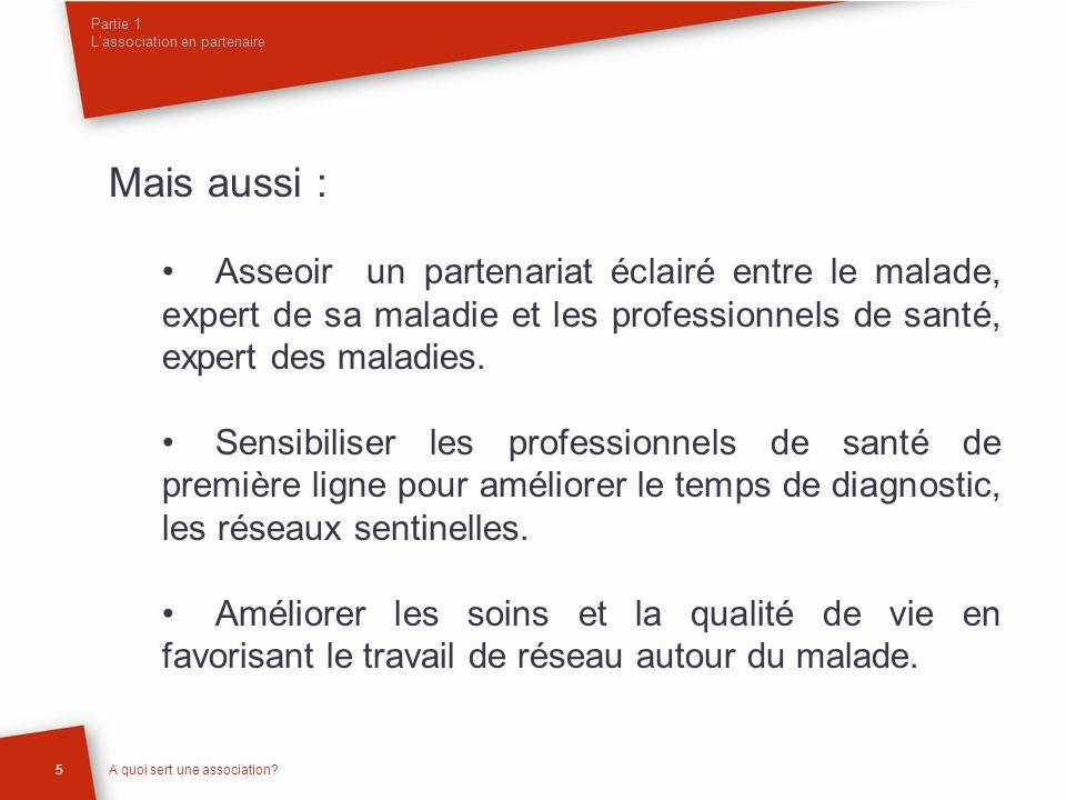 Partie 1 Lassociation en partenaire 6A quoi sert une association.