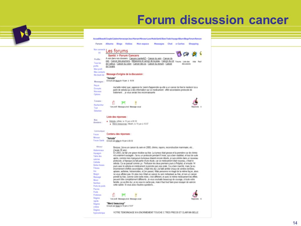 Forum discussion cancer 14