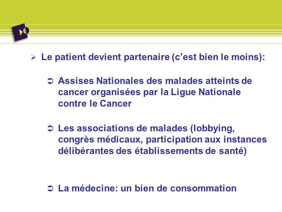 Le patient devient partenaire (cest bien le moins): Assises Nationales des malades atteints de cancer organisées par la Ligue Nationale contre le Canc