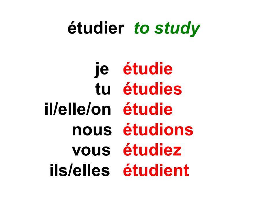 On étudie.