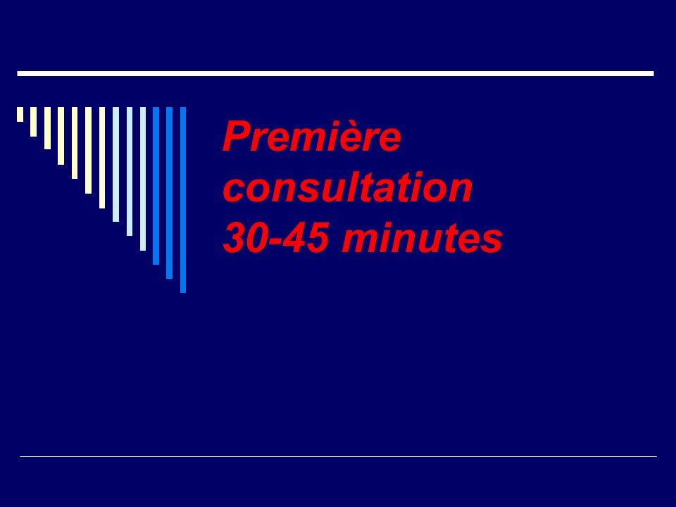 Première consultation 30-45 minutes