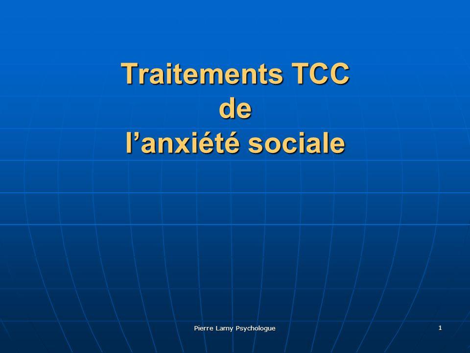 Pierre Lamy Psychologue 2 Traitement cognitif- comportemental Restructuration cognitive.