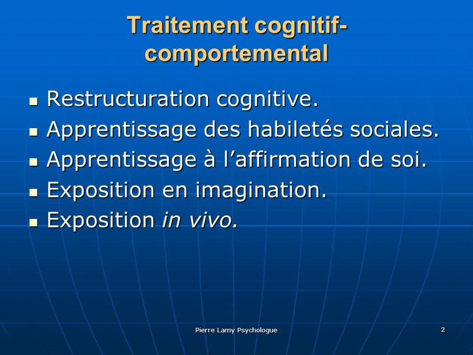 Pierre Lamy Psychologue 3 Étapes de lexposition Percevoir les difficultés en terme de situations- problème.