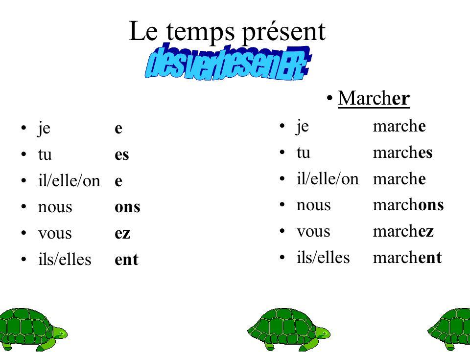 Revisons les temps des verbes tout dabord.