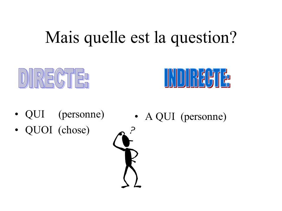 Aujourdhui nous étudierons les pronoms dobjet.