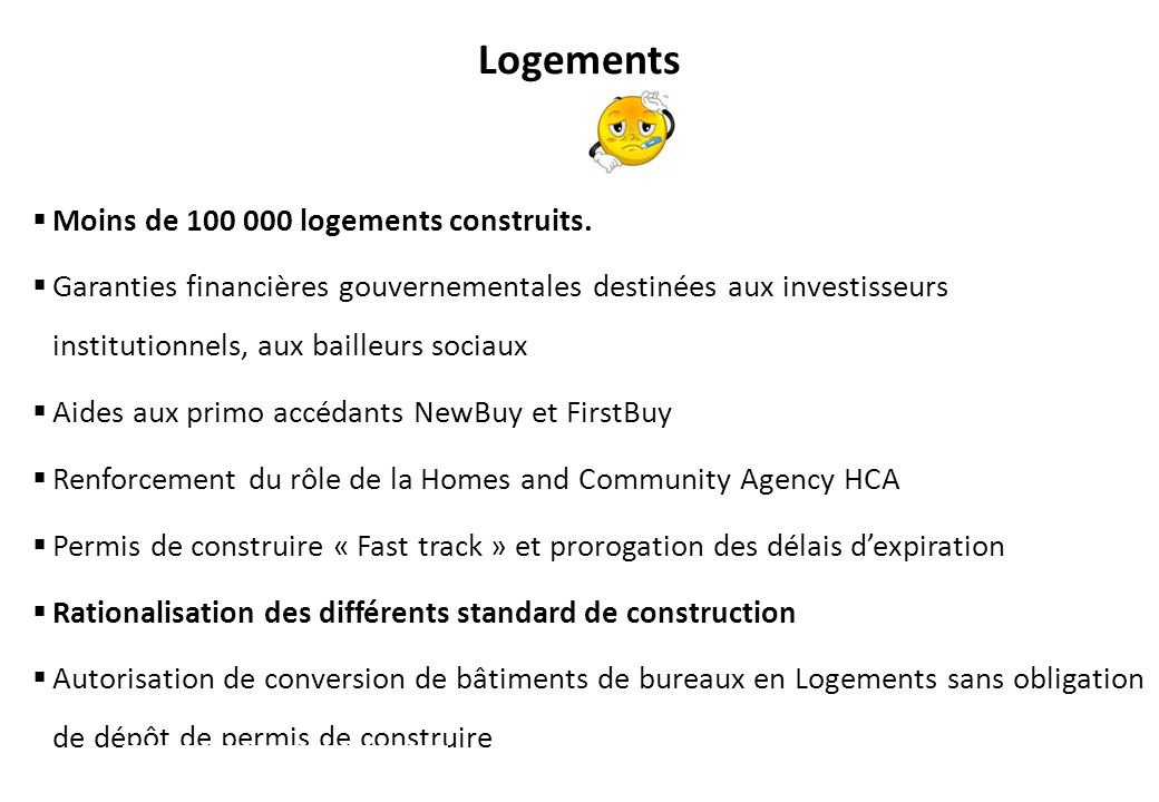 Logements Moins de 100 000 logements construits.