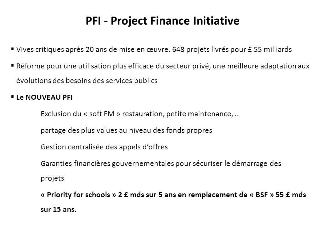PFI - Project Finance Initiative Vives critiques après 20 ans de mise en œuvre.