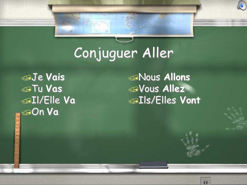 Conjuguer Aller / Je Vais / Tu Vas / Il/Elle Va / On Va / Je Vais / Tu Vas / Il/Elle Va / On Va / Nous Allons / Vous Allez / Ils/Elles Vont