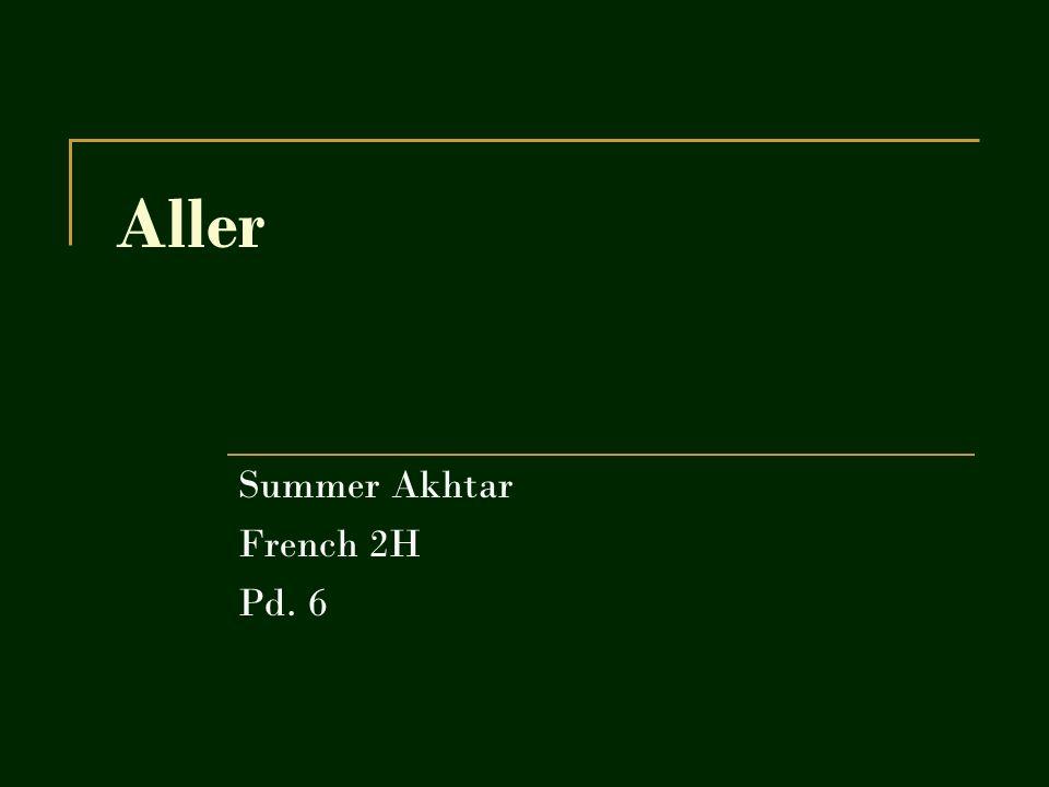 Expliquer The verb aller means to go.