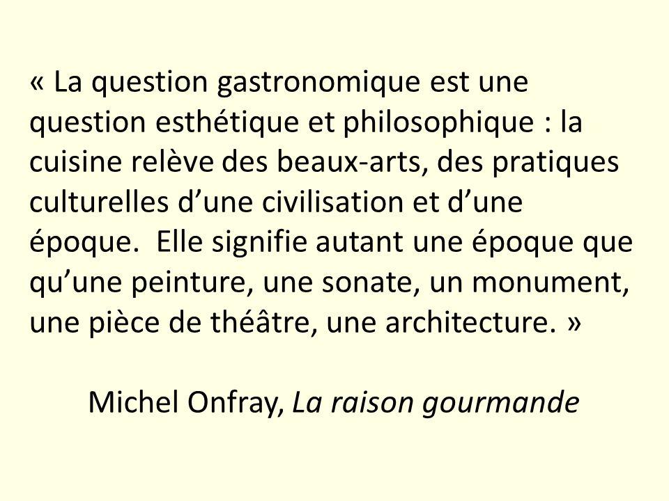 Carême, « entrepreneur culturel » Insistance sur la cuisine comme caractéristique culturelle française Vocabulaire intraduisible en dautres langues Cf.