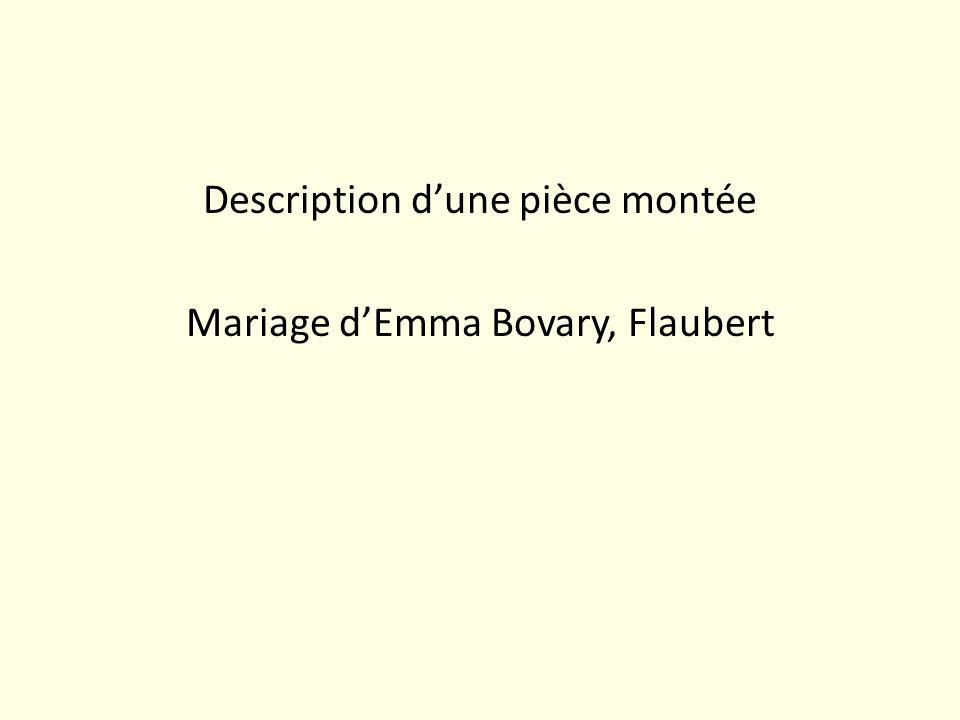 Description dune pièce montée Mariage dEmma Bovary, Flaubert