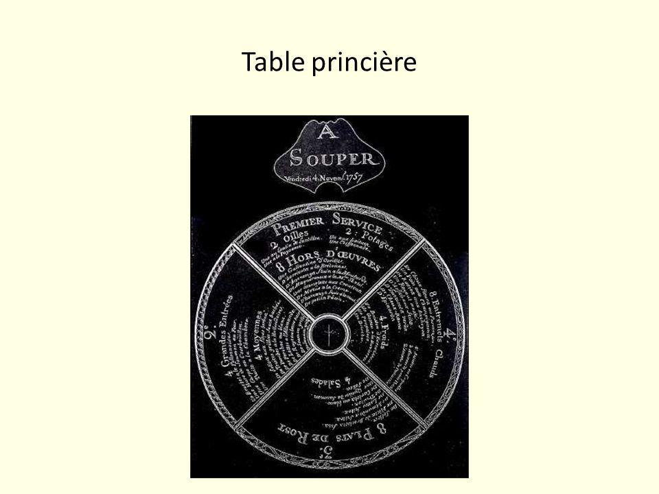 Table princière