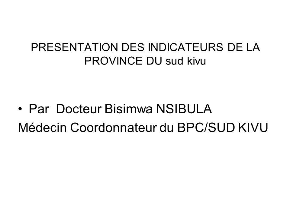 CONTEXTE PROVINCE : SUD KIVU POP.