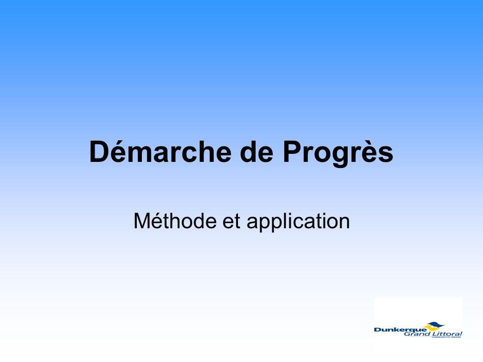 Démarche de Progrès Méthode et application