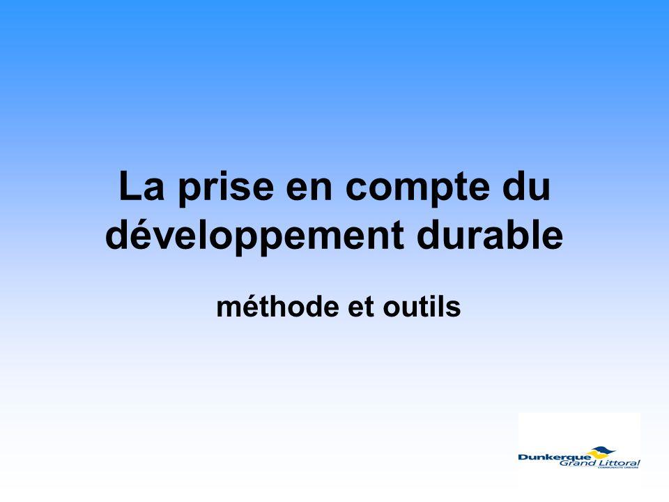 La prise en compte du développement durable méthode et outils