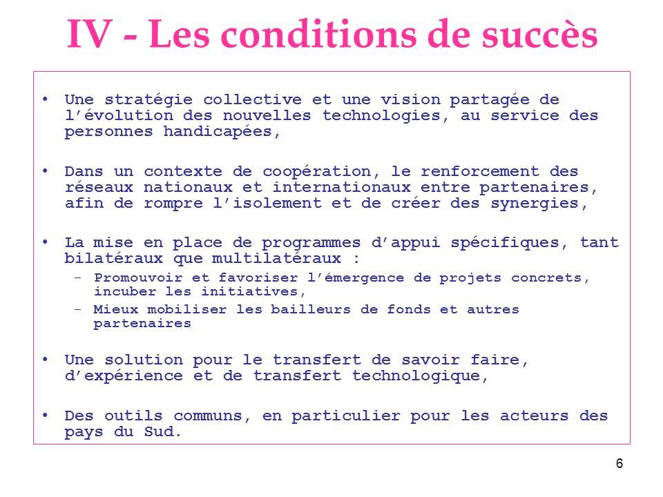 6 Une stratégie collective et une vision partagée de lévolution des nouvelles technologies, au service des personnes handicapées, Dans un contexte de