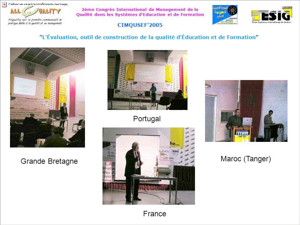 2ème Congrès International de Management de la Qualité dans les Systèmes d Education et de Formation CIMQUSEF 2005 L Évaluation, outil de construction de la qualité d Éducation et de Formation Cameroun France
