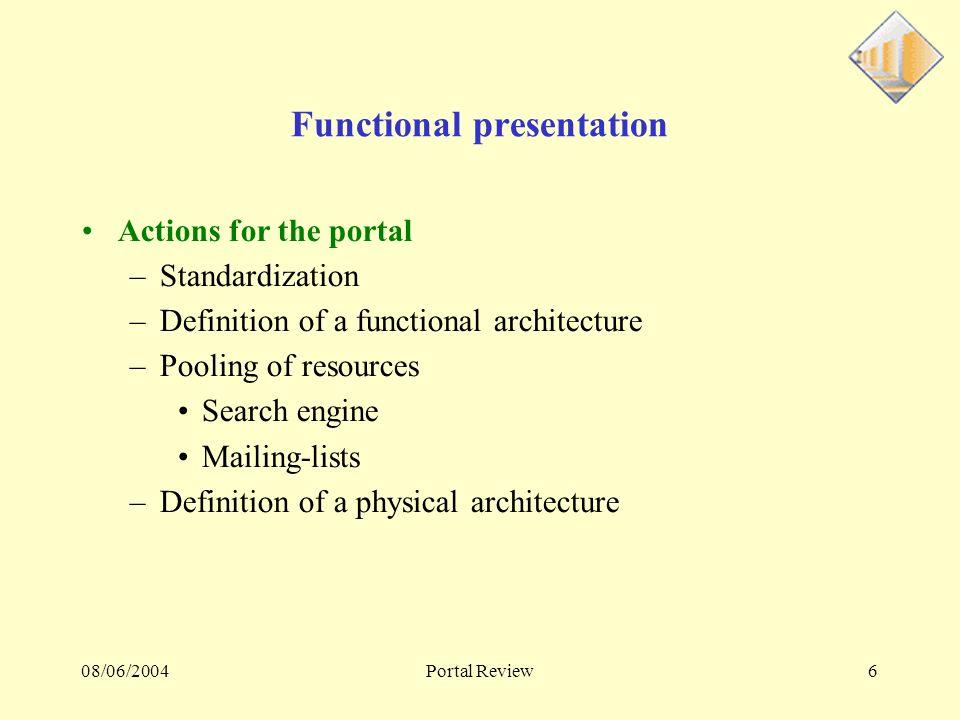 08/06/2004Portal Review27 Lexpériences CMS Multilingue Etude sur des CMS multilingue « open source » en java, php, python.