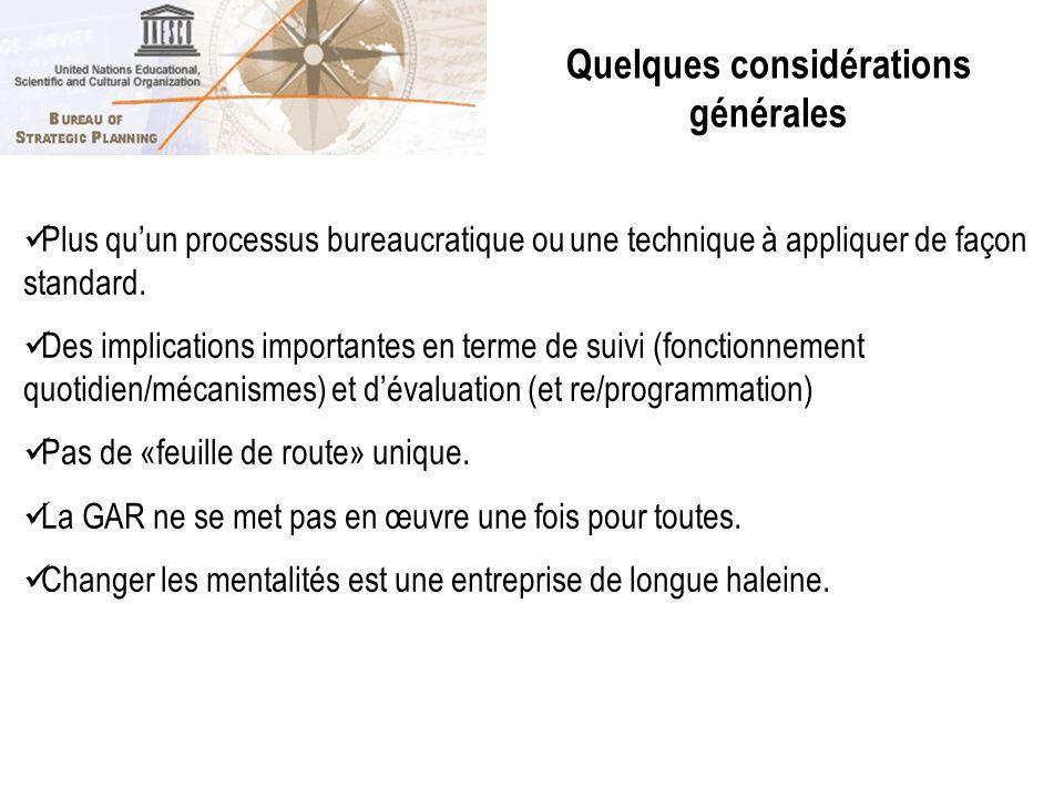Plus quun processus bureaucratique ou une technique à appliquer de façon standard. Des implications importantes en terme de suivi (fonctionnement quot