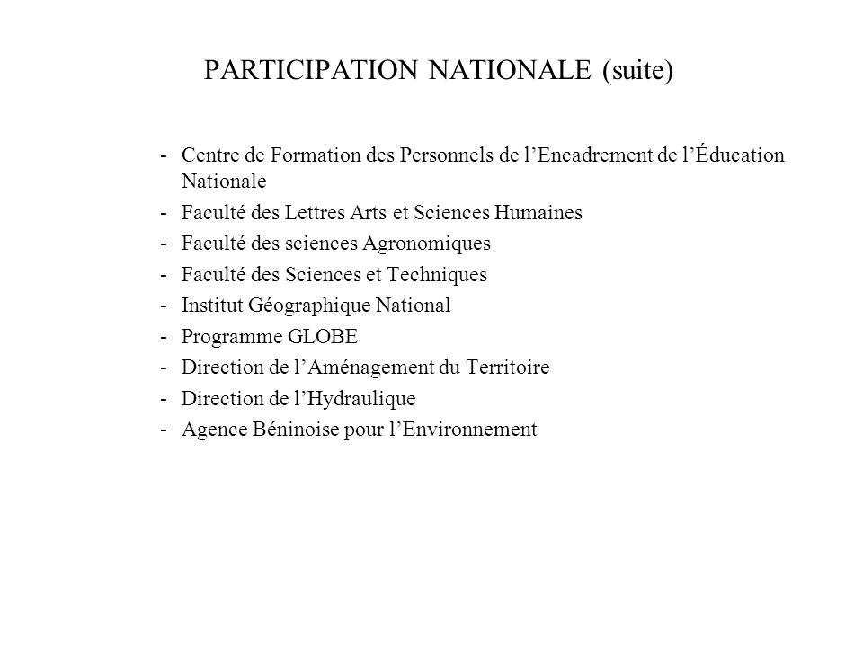 PARTICIPATION NATIONALE -Laboratoire de Modélisation et dHydrodynamique Appliquée (LAMHYA) -Institut de Mathématiques et Sciences Physiques de lUAC -C
