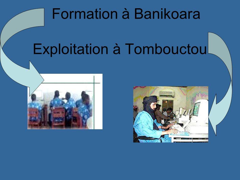 Formation à Banikoara Exploitation à Tombouctou