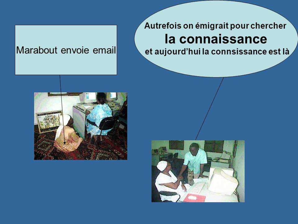 Autrefois on émigrait pour chercher la connaissance et aujourdhui la connsissance est là Marabout envoie email