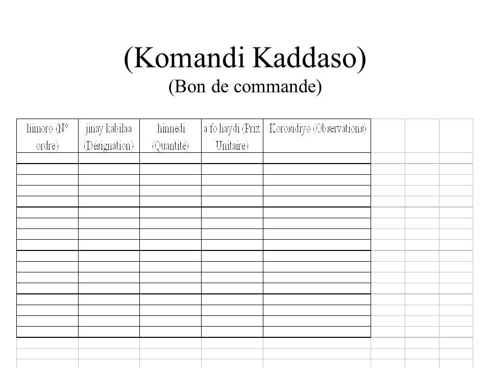 konday ije kadasu (Registre des adhérents)