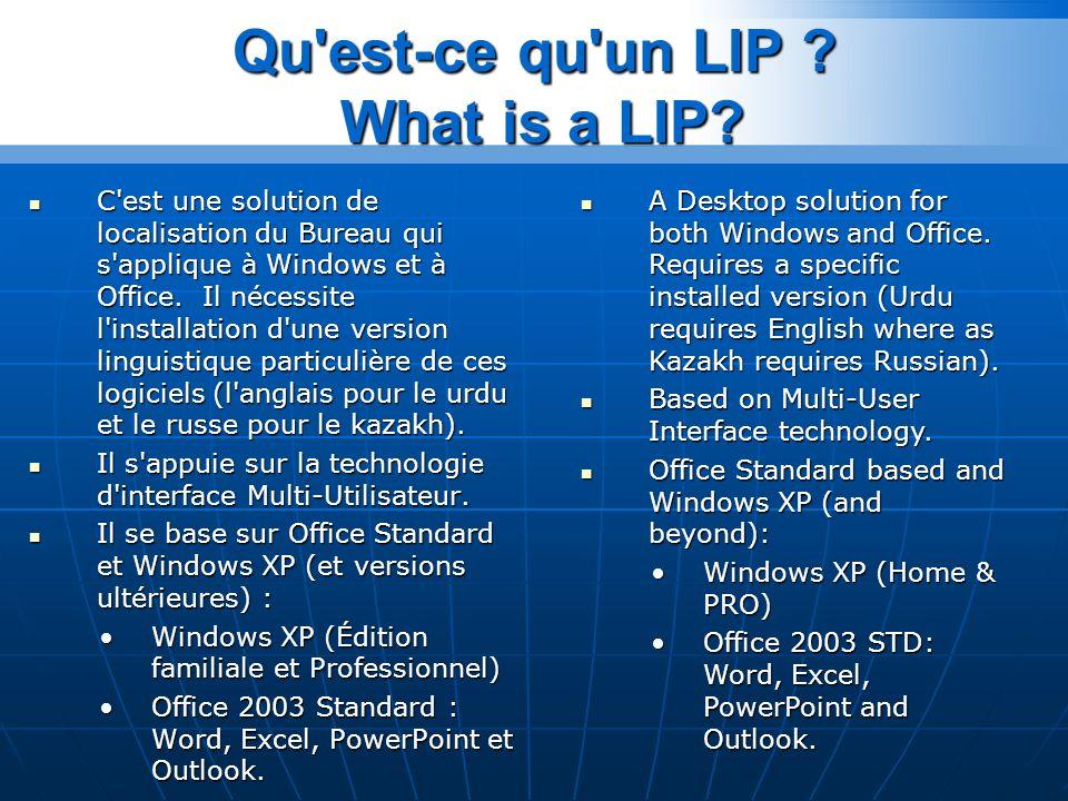 Qu est-ce qu un LIP .What is a LIP.
