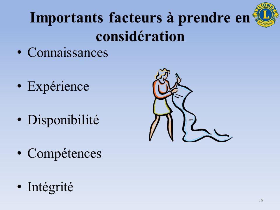 Qualités de membre d équipe efficace Bonnes techniques de communication Sait travailler en équipe et apprécie les contributions Est capable de s adapter aux nouvelles situations et circonstances 18