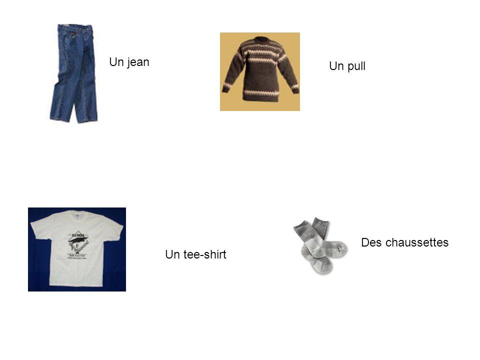 Un jean Un pull Un tee-shirt Des chaussettes